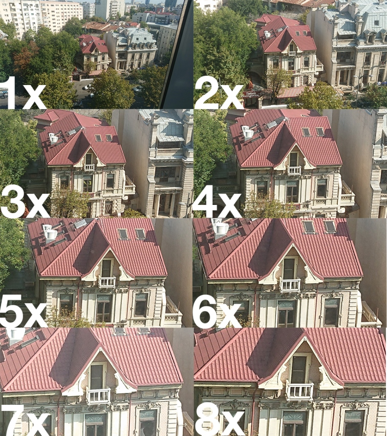 Sony Xperia XZ3 zoom levels